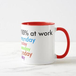 Ich gebe immer 100% bei der Arbeit! Tasse