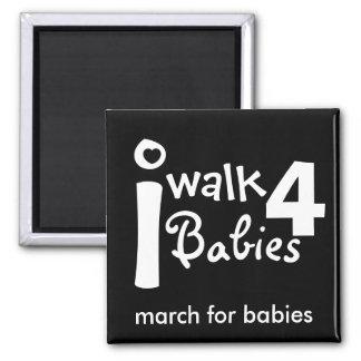 ich gehe für Babys Magneten Quadratischer Magnet