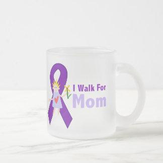 Ich gehe für Mamma-Alzheimer Geschenk Mattglastasse