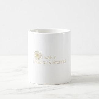 Ich gehe in Eleganz- u. Güte-Tasse Kaffeetasse