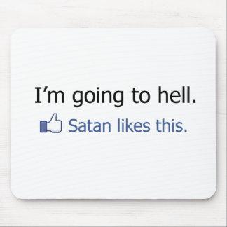 Ich gehe zum Hölle Facebook Statusentwurf Mauspads