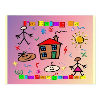 Ich gehe zum Kindergarten Postkarte