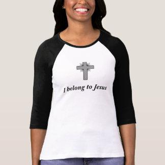 Ich gehöre dem T - Shirt Jesus-Frauen mit Kreuz