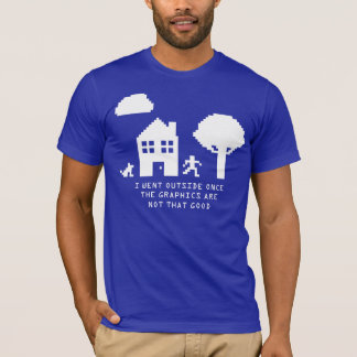 ICH GING AUSSENSEITE EINMAL 8 BIT T - Shirt