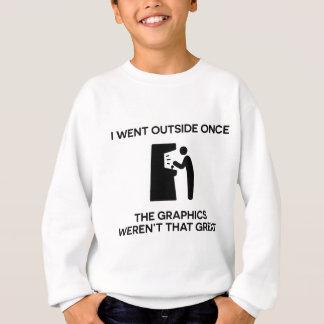 Ich ging Außenseite, sobalddie Grafiken nicht Sweatshirt