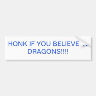 Ich glaube an Drachen Autoaufkleber