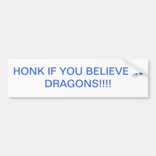 Ich glaube an Drachen Autosticker