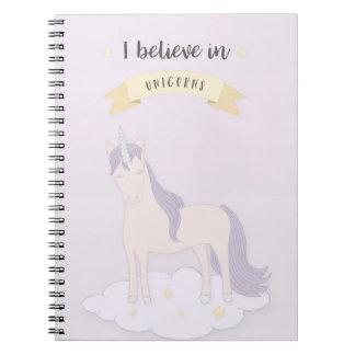 Ich glaube an Einhorn-Notizbuch Spiral Notizblock