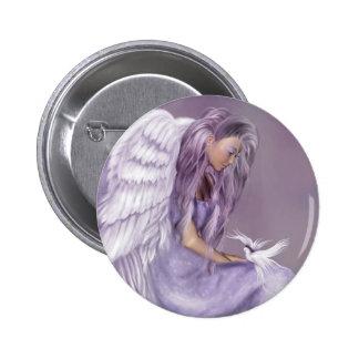 Ich glaube an Engel Runder Button 5,7 Cm