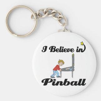 ich glaube an Flipperautomaten Schlüsselanhänger