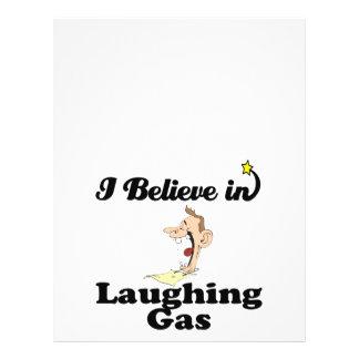 ich glaube an Lachgas Bedruckte Flyer
