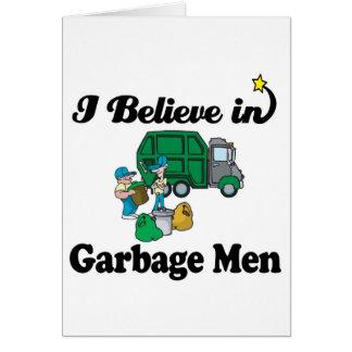 ich glaube an Müllmänner Karte