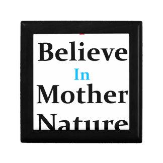 Ich glaube an Mutter Natur Schmuckschachtel