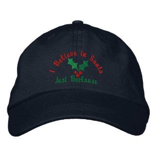 Ich glaube an Sankt… gerade Beclause Bestickte Kappe