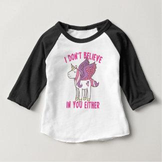 ich glaube an Sie auch nicht! freches Einhorn Baby T-shirt