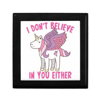 ich glaube an Sie auch nicht! freches Einhorn Geschenkbox