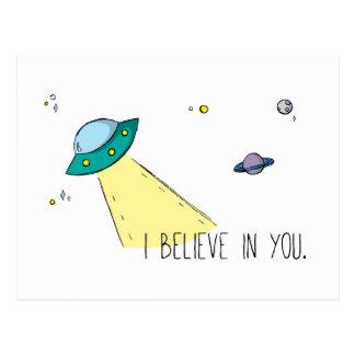 """""""Ich glaube an Sie"""" Postkarte (Kunst durch EM"""