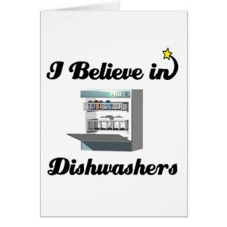 ich glaube an Spülmaschinen Grußkarte