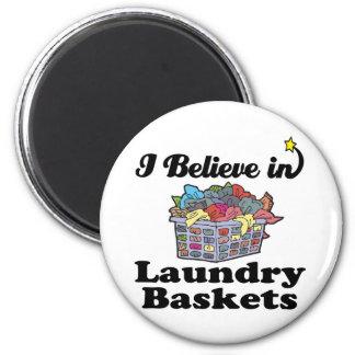 ich glaube an Wäschekörbe Runder Magnet 5,1 Cm