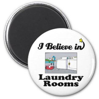 ich glaube an Waschküchen Runder Magnet 5,7 Cm