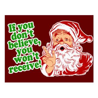 Ich glaube an Weihnachtsmann Postkarte