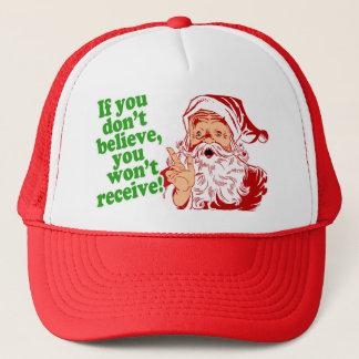 Ich glaube an Weihnachtsmann Truckerkappe