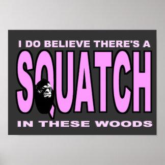 Ich glaube, dass es SQUATCH - rosa Dame Version gi Poster