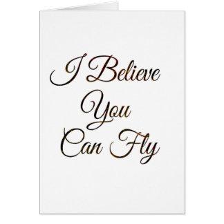 Ich glaube, dass Sie Postkarte fliegen können