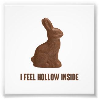 Ich glaube hohlem innerem Schokoladen-Osterhasen Kunst Fotos