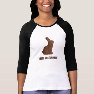 Ich glaube hohlem innerem Schokoladen-Osterhasen T-Shirt