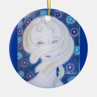 Ich glaube meiner Universum-runden Verzierung Keramik Ornament