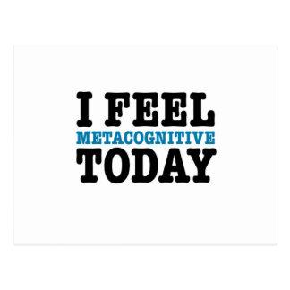 Ich glaube Metacognitive heute Postkarte