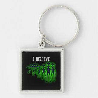 Ich glaube UFO und Außerirdischen Keychain Schlüsselanhänger