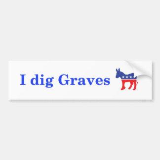 Ich grabe Gräber 2:) Autoaufkleber