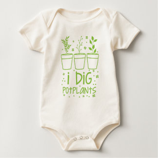 ich grabe potplants baby strampler