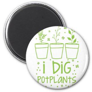 ich grabe potplants runder magnet 5,7 cm