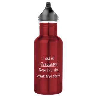 Ich graduierte intelligenter Absolvent-lustiges Trinkflasche