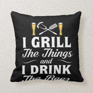 Ich grille Getränk-Bier GRILLEN, die Bier trinken Kissen