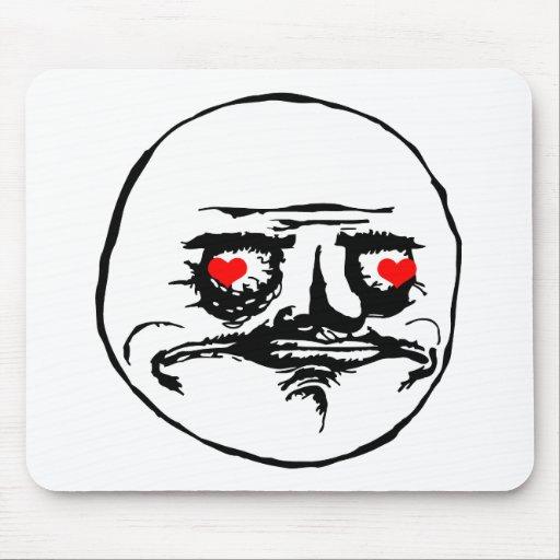 Ich Gusta Valentine in der Liebe - meme Mousepad