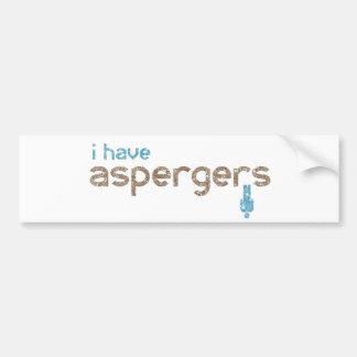 Ich habe Aspergers Autoaufkleber