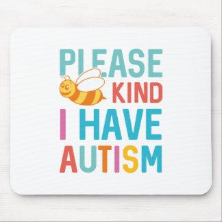 Ich habe Autismus Mousepad