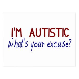 Ich habe Autismus Postkarten