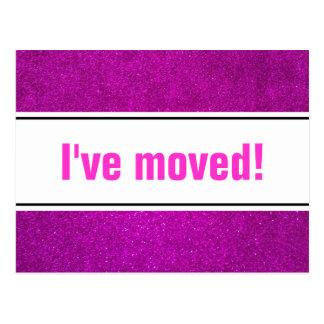 Ich habe bewegliche Postkarten mit rosa Glitter