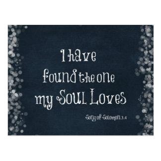 Ich habe das mein Soul-Liebe-Bibel-Vers gefunden Postkarte