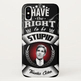 """""""Ich habe das Recht, dumm zu sein """" iPhone X Hülle"""