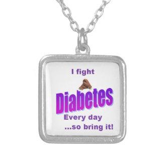 Ich habe Diabetes, Diabetes habe mich nicht! Versilberte Kette