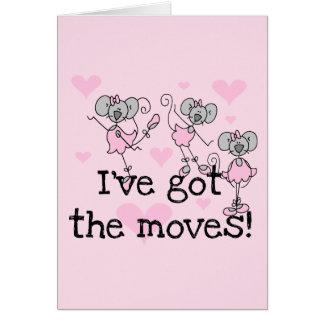 Ich habe die Bewegungs-Ballerina-T - Shirts und Karte