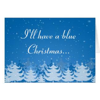 Ich habe ein blaues Weihnachten Karte