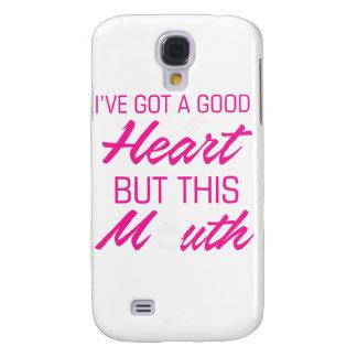 Ich habe ein gutes Herz aber diesen Mund Galaxy S4 Hülle