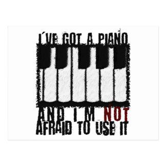 Ich habe ein Klavier Postkarte